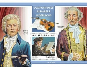 Guinea-Bissau - 2019 German-Austrian Composers - Stamp Souvenir Sheet GB190408b