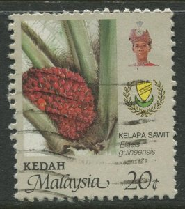 STAMP STATION PERTH Kedah #135 Sultan Abdul Halim Flowers Used 1986