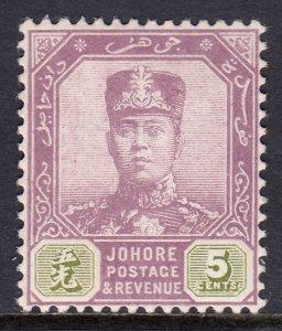 Malaya (Johore) - Scott #90 - MH - SCV $2.00