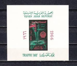 Yemen Arab Rep., Scott cat. 228a. Traffic Day s/sheet. ^