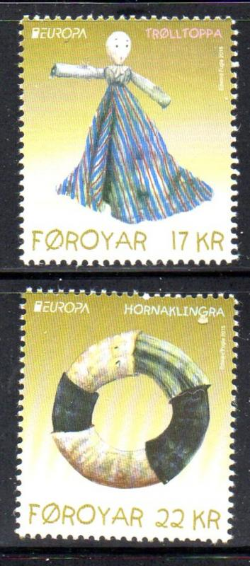 Faroe Islands Sc 645-6 2015 Europa stamp set mint NH