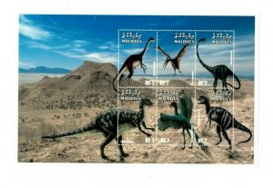 Maldives MNH S/S 9902 Dinosaurs 6 Stamps