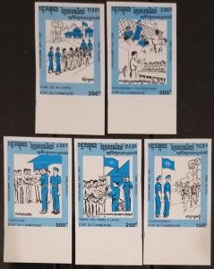 Cambodge Cambodia MNH imperf stamps 1992 : Volleyball / Military / UN flag