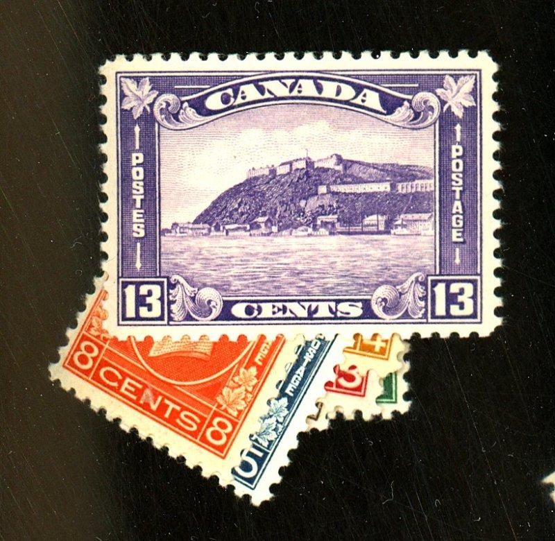 Canada #195-201 MINT F-VF OG HR/LH Cat $ 155.95