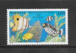 FISH - MAYOTTE #91  MNH