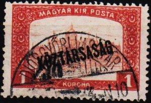 Hungary. 1918 1k S.G.290 Fine Used