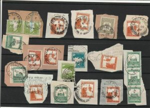 Palestine Cancels + Stamps on Piece ref R 18757