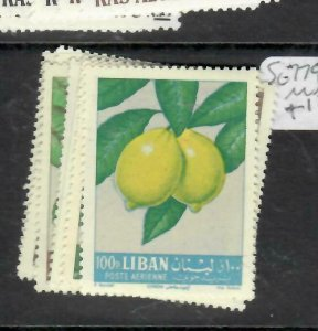 LEBANON  (PP0106BB)  FRUIT  SG 779-806   MNH