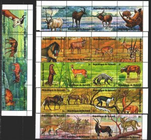 Burundi. 1975. 1149-72. Rhinoceros, fauna of Africa. USED.