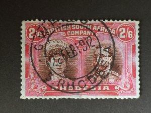 British South Africa stamps, GB Rhodesia, SG#161 , brown vermillion