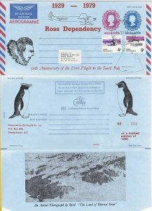 NEW ZEALAND 1979 PTPO 12c+14c aerogramme - Ross Dep used....................K627