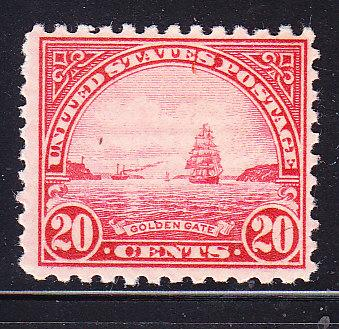United States 20c Golden Gate perf 11  F/VF/NH(**)