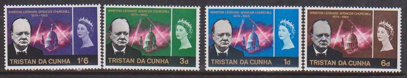 Tristan da Cunha 2015 Scott #89-92 Mint F-VF-NH 1966 Churchill Cpl.