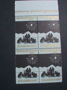 JULLISIORLUARIT STAMP-1976 RARE NORTH POLE STAMP MNH BLOCK OF4-EST.-$8 VF