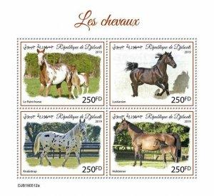 Z08 IMPERF DJB190512a DJIBOUTI 2019 Horses MNH ** Postfrisch