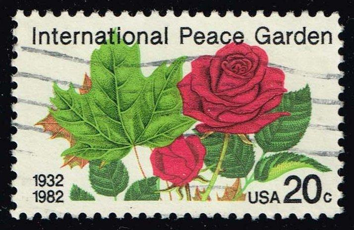 US #2014 International Peace Garden; Used (0.25)