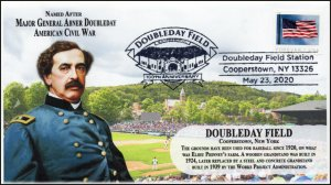 20-102, 2020, Doubleday Field, Pictorial Postmark, Event Cover, Cooperstown NY,