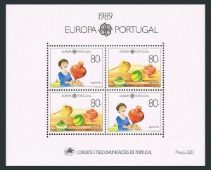 Portugal 1776,MNH.Michel 1786 Bl.64. EUROPE CEPT-1989:Children's toys.