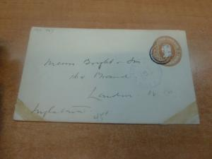 Costa Rica PSE 10c 1907 to London, backstamps
