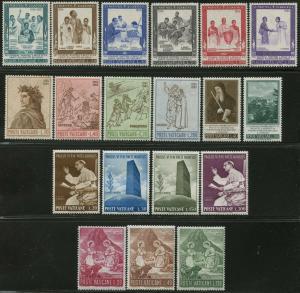 VATICAN Sc#404-422 Five Sets 1965 Year Complete Mint OG NH