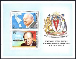 British Antarctic Territory Sc# 63a MNH Souvenir Sheet 1974 Winston Churchill