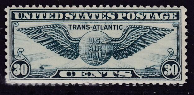 United States 1939 C24 30c dull blue Winged Globe  VF/NH(**)