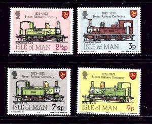 Isle Of Man MNH 29-32 Locomotives 1975