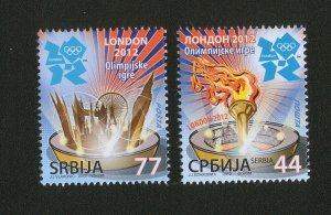 SERBIA-GREAT BRITAIN-MNH** SET-OLYMPIC GAMES LONDON-2012.