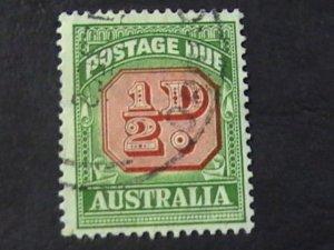 AUSTRALIA # J71-USED---POSTAGE DUE---1956