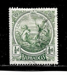 Barbados Stamp- Scott # 128/A15-1/2p-Canc/H-1916-18-OG