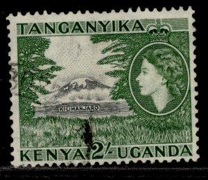 KENYA UGANDA TANGANYIKA QEII SG177a, 2s black & bronze-green, FINE USED.