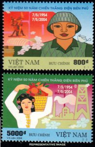 Vietnam North Scott 3219-3220 Mint never hinged.