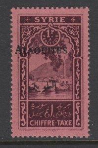 Alaouites, Scott J7a (Yvert TT7a), MNH, Black Overprint