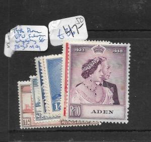 ADEN   (P0704B) SILVER WEDDING, UPU SG 28-35  MOG
