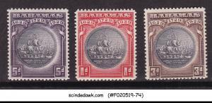 BAHAMAS - 1930 SCOTT#85-7 - 3V MINT NH