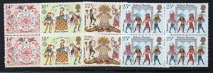 Great Britain Sc 933-36 1981 Europa Folklore stamp set blocks of 4 mint NH