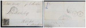 O) 1877 CUBA - SPANISH ANTILLES, KING ALFONSO XII SC 74 50c black,BY BOAT