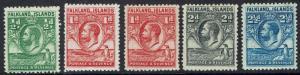 FALKLAND ISLANDS 1929 KGV WHALE AND PENGUIN 1/2D - 21/2D PLUS 1D SHADE