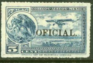 MEXICO CO17, 5¢ Air Official. MINT, NH. VF.