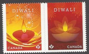 Canada #3025i MNH set, Diwali (Indian holiday), issued 2017