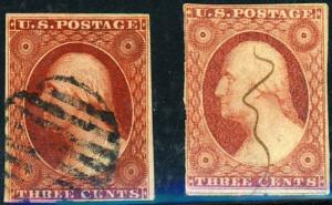 U.S. #11 (2) Used F-VF