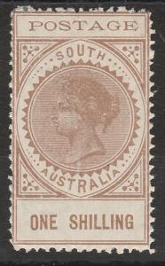 SOUTH AUSTRALIA 1902 QV THIN POSTAGE 1/-