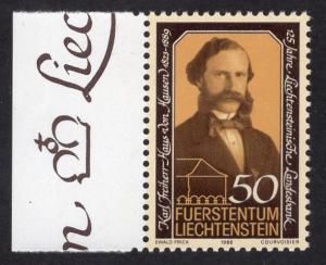 Liechtenstein  #847   1986  MNH  von Hausen  savings bank
