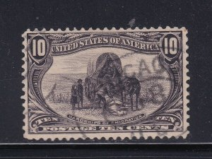 290 VF+ used neat fancy cancel with nice color cv $ 35 ! see pic !