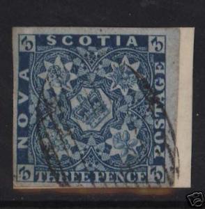 Nova Scotia #2 XF Used Gem On Cover Piece