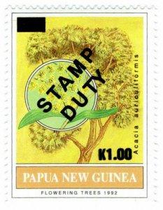 (I.B) Papua New Guinea Revenue : Stamp Duty 1K on 21t OP