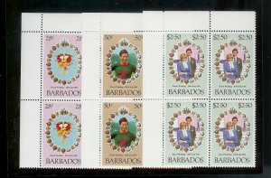 BARBADOS Sc#547-549 Complete Mint Never Hinged BLOCK Set