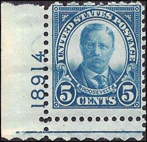 637 Mint,OG,NH... SCV $3.00... Plate# Single