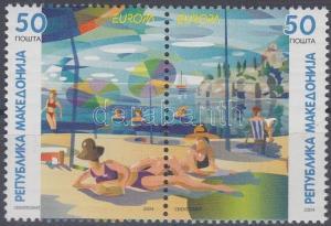 Makedonien stamp Europa CEPT Vacation pair MNH 2004 Mi 317-318 WS138652