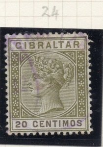 Gibraltar 1898-97 Early Issue Fine Used 20c. 276244